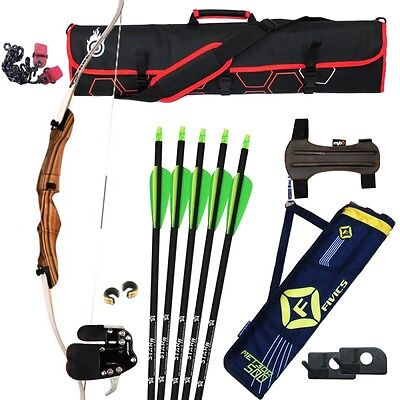 """Archery Starter Bow Set Kit For Teenager  - Right Handed - 66""""20lbs"""