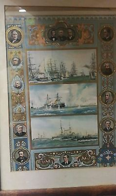 Chromolithograph.'The Navy in the Victorian Era' W L Wyllie.