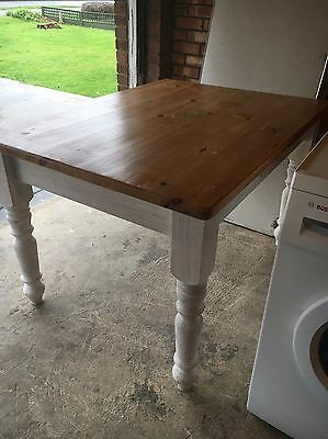 Solid Pine Dining Table Ideal For Shabby Chic Painted Pine Table 3ft X 4ft