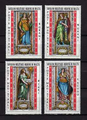13019) SMOM 1974 Cat. Unificato# 100/103 MNH** Virtù Cardina 4v