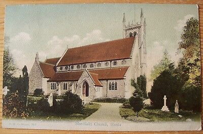 Antique Postcard Shedfield Church, Hampshire, England Written & Stamped 1908