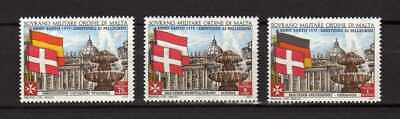 13023) SMOM 1975 C.U.# 110/112 MNH**  Holy Year - Flags 3v