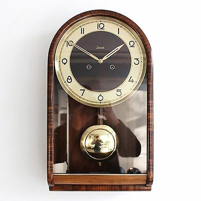 JUNGHANS Museum Piece!! Real BAUHAUS Wall TOP! Clock Antique Chime 1920s Germany