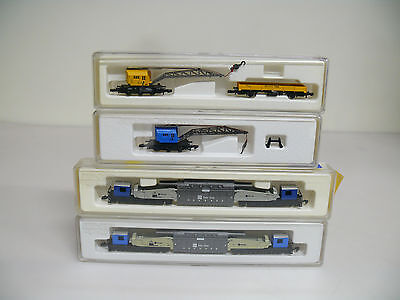 MÄRKLIN Mini-Club - Kranwagen-Set | 8621 + 8657 + 2x 8620 | Spur Z