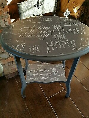shabby chic upcycled oval occasional table