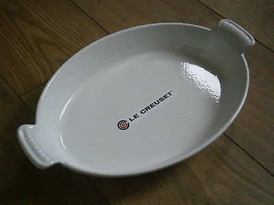 New Unused Large Le Creuset  Cast Iron Gratin Pan Pie Dish, Size 32.
