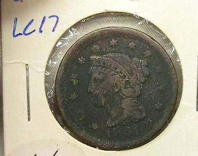 US 1851 Large Cent   (lc19)