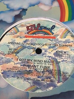 Instant Funk I Got My Mind Made Up 12'' Disco Single