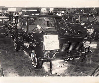 Fiat 124 Four Door Saloon, Period Photograph.
