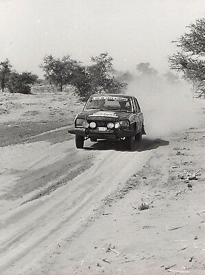 Peugeot 504 Saloon Rallying, Period Photograph.