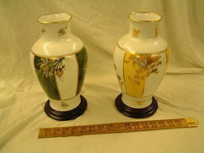 2 Japanese vases by The Franklin Mint
