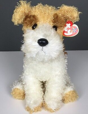 "2005 Ty Beanie Buddy Corkie Fox Terrier Dog Plush With Tag 10"" Puppy Collar"