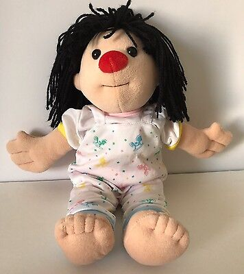 "1995 Big Comfy Couch Molly Doll 14"" Rocking Horse Pajamas Bedtime Plush Clowning"