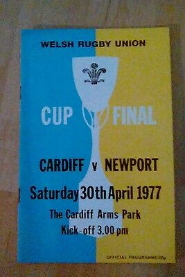 Welsh Rugby Union Cardiff V Newport 1977 Official Programme