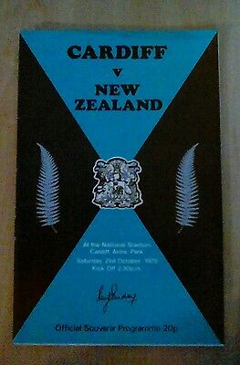 Welsh Rugby Cardiff V New Zealand 1978 Official Programme