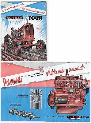 Original c.1959 Nuffield Universal Four Tractor Sales Brochure - Faults