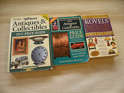 Antique Identification Reference Books Warmans, Kovels and Trader lot of 3