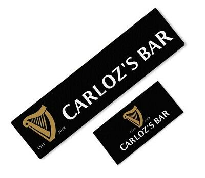 Personalised Guinness Beer Label Bar Runner Ideal For Home Pub Beer Mat Occasion