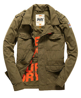 New Mens Superdry Rookie Military Blazer Deepest Army