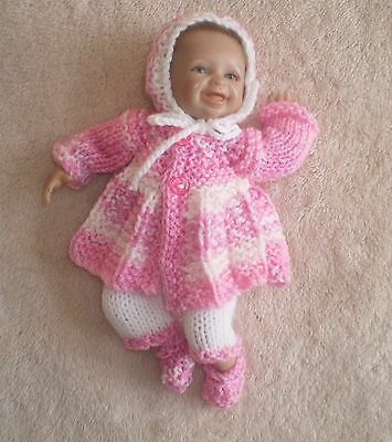 """Hand knitted dolls clothes for 9/9.5"""" reborn/ooak"""
