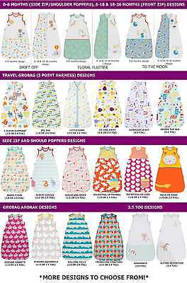 Grobag Baby Sleeping Bag Boy & Girl Designs 1.0/2.5/3.5 Tog (0-6, 6-18,18-36m)