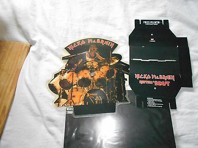 "Nicko McBrain - Rhythm Of The Beast (7"" Shaped Picture Vinyl) iron maiden"