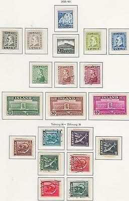 Iceland  1935 - 1943 Used + Mint sets and Singles...Superb...A+A+A+