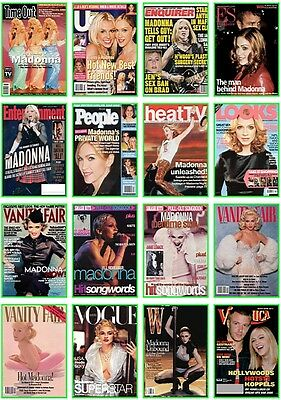 20  postcards of  Madonna Ciccone pop singer queen hot beauty music cover show
