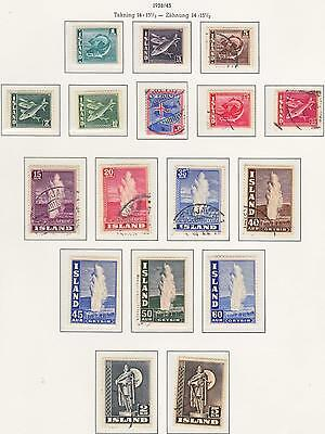 Iceland  1938 - 1943 Used + Mint sets and Singles...Superb...A+A+A+