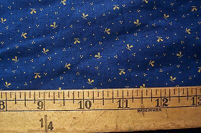Antique VTG 1800's 19c Cotton Fabric Blue EARLY PRIMITIVE DOLLS DRESS QUILT