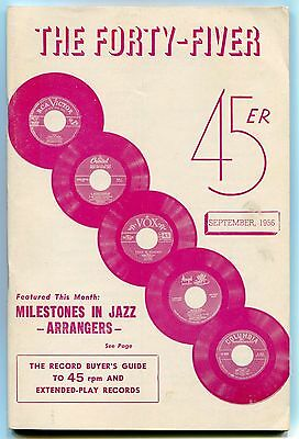 """""""THE FORTY-FIVER"""" 45/EP Guide - September 1956 - JAZZ ARRANGERS"""