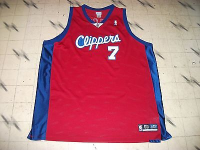 Lamar Odom  7 Clippers Authentic Red Reebok Vintage Nba Jersey All Sewn  Size 60 ea94bbce8