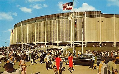 Houston Texas~Ladies in Red~Crowd @ The Astrodome~1966 Postcard