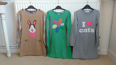 Girls Jumper Dress Bundle Age 6-7-8 Years By Next, M&s And H&m
