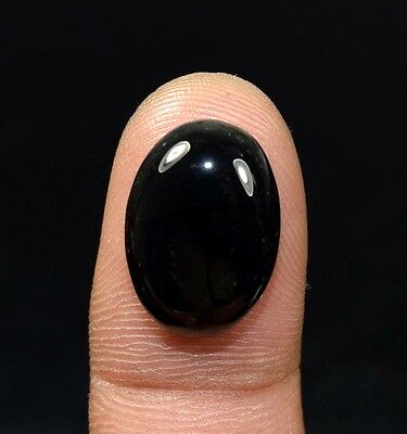 12.15 Ct. 100 % Natural Black Onyx  Oval Cabochon Loose Gemstones Ladylucklovers