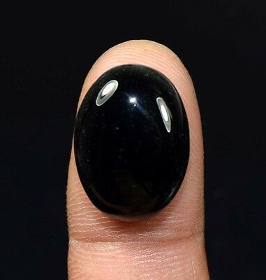 20.25 Ct. 100 % Natural Black Onyx  Oval Cabochon Loose Gemstones Ladylucklovers