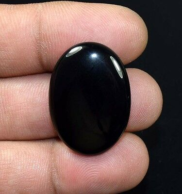 24.50 Ct. 100 % Natural Black Onyx  Oval Cabochon Loose Gemstones Ladylucklovers