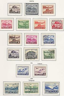 Iceland  1950 - 1954  MNH + MLH + Used sets and Singles...Superb...A+A+A+
