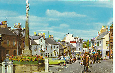Horse Riding Through The Square, MELROSE, Roxburghshire