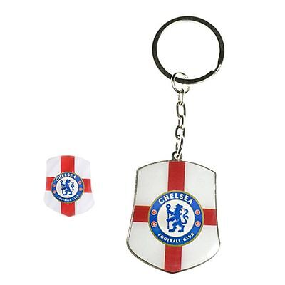 Chelsea Club Country Badge & Keyring - Fc And Crest Football Fan Official