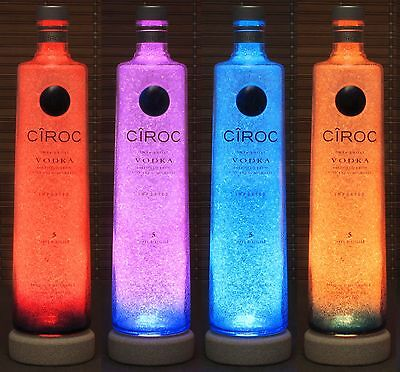 Ciroc Vodka Snap Frost LED Bottle Lamp Remote Color Changing Light Bar France