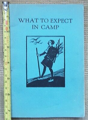 Old Girl Guide What To Expect In Camp Book from 1940