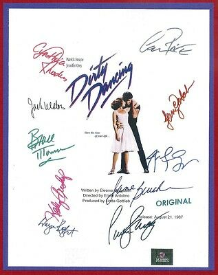 Dirty Dancing Signed Script Rpt Patrick Swayze   Jennifer Grey   Jerry Orbach