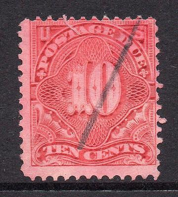 U.S.A. 10 Cent Postage Due Stamp c1894-95 Used (tear)