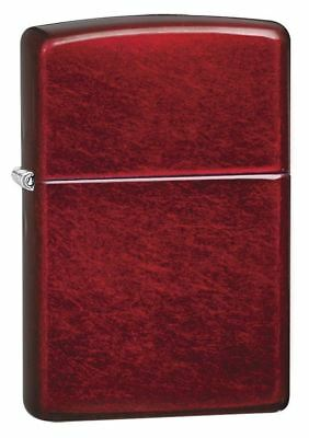 Genuine Zippo Windproof Refillable Petrol Lighter without Logo - Candy Apple Red