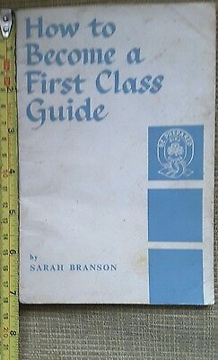 Old Girl Guide How to Become a First Class Guide Book from 1963