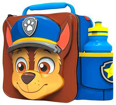 PAW Patrol 'Chase' 3D Lunch Bag/Box and 500ml Bottle Set | Paw Patrol Lunchbox