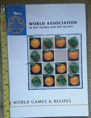 Old Girl Guide World Games and Recipes Book from 1988