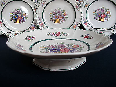 WEDGWOOD FLORAL #A6793- (c.1907-24)- ROUND FOOTED COMPOTE- EXCELLENT!! RARE!!