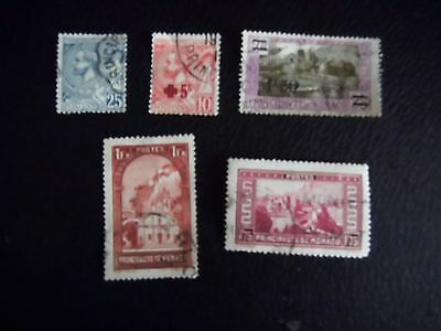 1891 to 1933 Monaco stamps Early USED LOT Catalogue Value £55.00 +